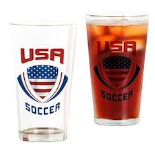 Soccer Crest USA Pint Glass
