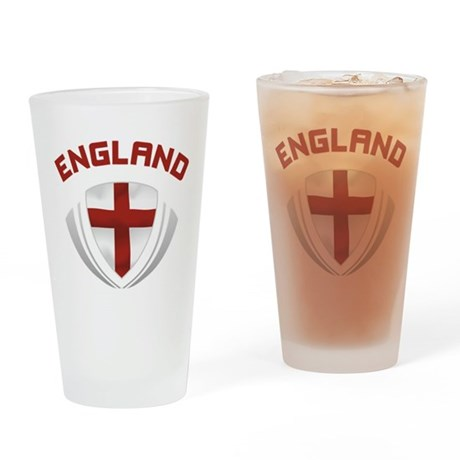 Soccer Crest ENGLAND red Pint Glass