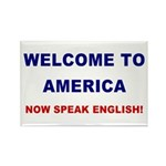 Speak English Rectangle Magnet (100 pack)