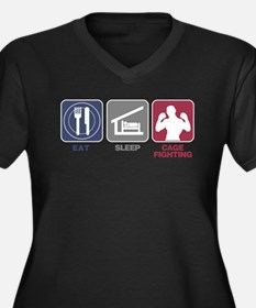 Eat Sleep Cage Fighting Women's Plus Size V-Neck D