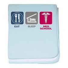 Eat Sleep Med-School baby blanket