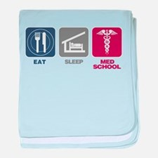 Eat Sleep Med-School baby blanket