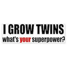 grow twins bumper Bumper Stickers