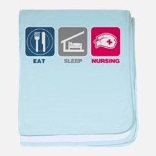 Eat Sleep Nursing baby blanket