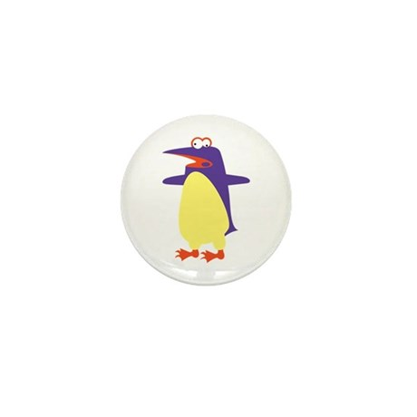 Loony Penguin Mini Button (100 pack)