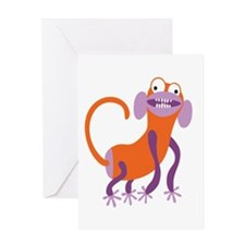 Loony Monkey Greeting Card