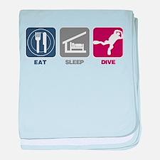Eat Sleep Dive baby blanket