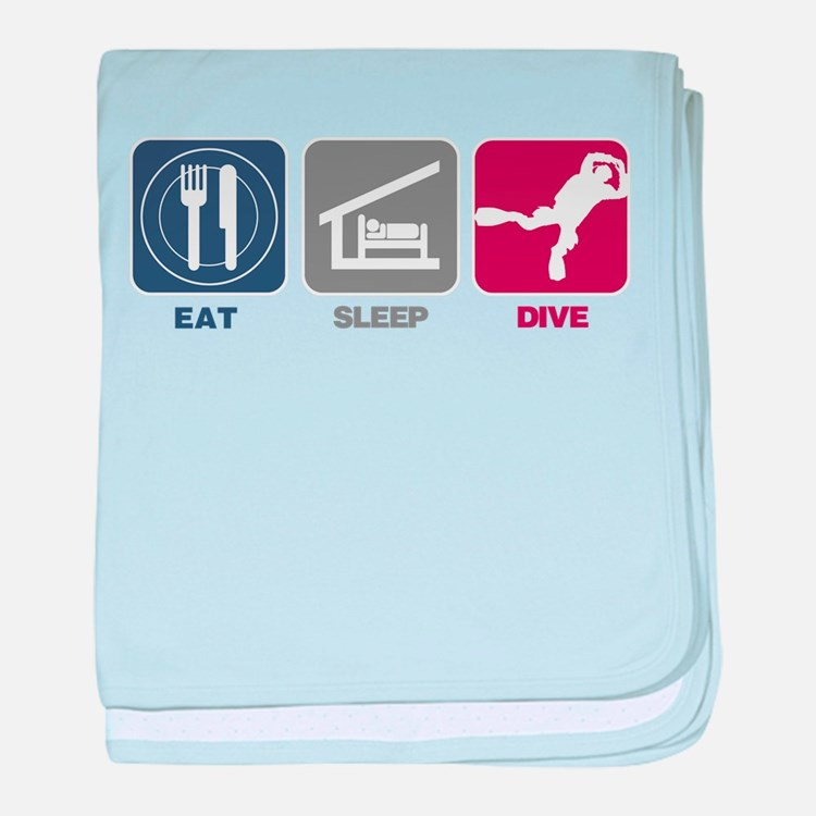 Eat Sleep Dive baby blanket