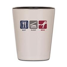 Eat Sleep Dive Shot Glass