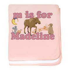 M is for Madeline baby blanket