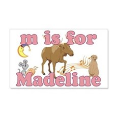 M is for Madeline 22x14 Wall Peel