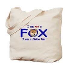 I am not a fox I am a shiba I Tote Bag