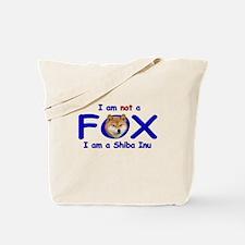 I am not a fox I am a shiba I Tote Bag