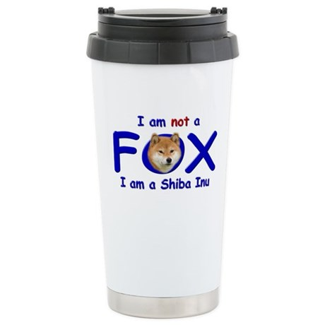 I am not a fox I am a shiba I Stainless Steel Trav