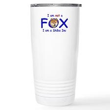I am not a fox I am a shiba I Travel Mug