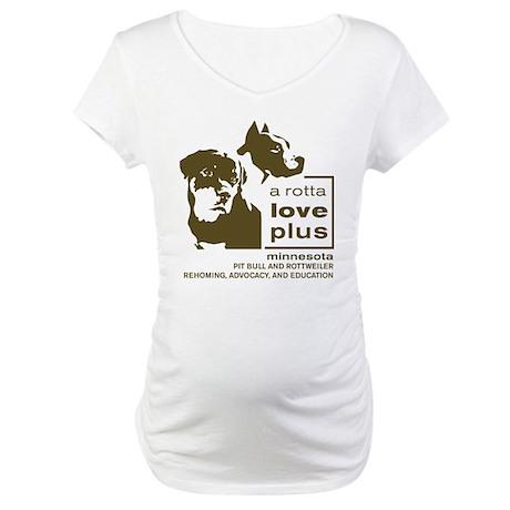 Vertical Logo Clothing Maternity T-Shirt