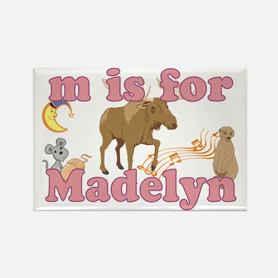 M is for Madelyn Rectangle Magnet