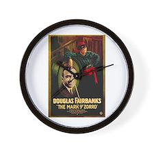 The Mark Of Zorro Wall Clock