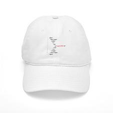 HTML CSS Geek Baseball Cap