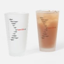 HTML CSS Geek Pint Glass