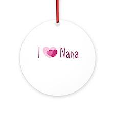 I Heart Nana Ornament (Round)