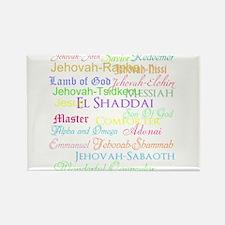 Names of God Rectangle Magnet