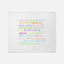 Names of God Throw Blanket