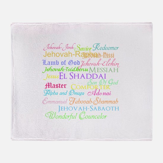 Names of God Throw Blanket