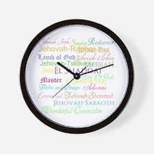 Names of God Wall Clock