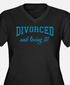 Divorced And Loving It Women's Plus Size V-Neck Da