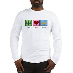 Peace Love Scorpio Long Sleeve T-Shirt