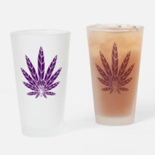 Purple Leaf Pint Glass