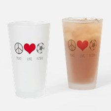 Peace Love Futbol Pint Glass