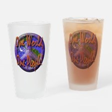 One World, One People Pint Glass