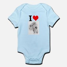Cute I love weimaraners Infant Bodysuit