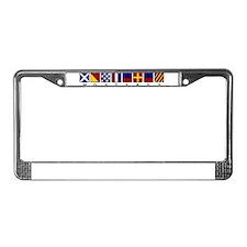 Nautical Monterey License Plate Frame