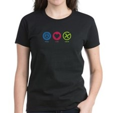 Geocaching PEACE LOVE CACHE Tee