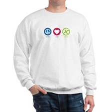 Geocaching PEACE LOVE CACHE Sweatshirt