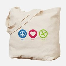 Geocaching PEACE LOVE CACHE Tote Bag
