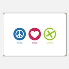 Geocaching PEACE LOVE CACHE Banner