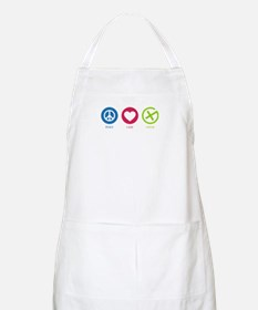 Geocaching PEACE LOVE CACHE Apron
