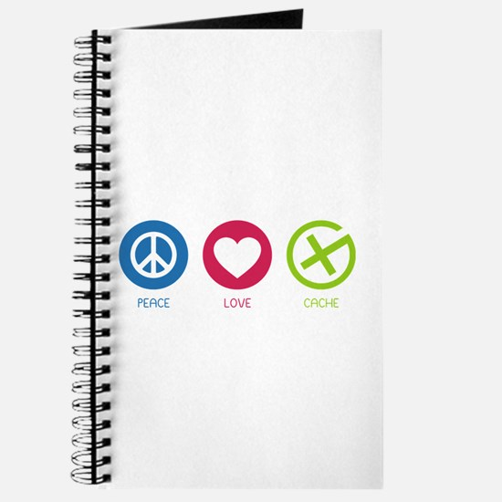 Geocaching PEACE LOVE CACHE Journal