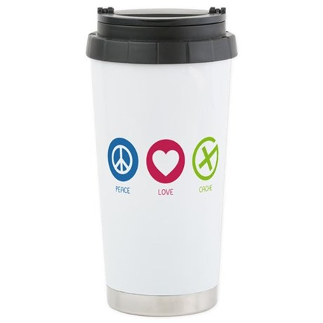 Geocaching PEACE LOVE CACHE Stainless Steel Travel