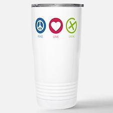 Geocaching PEACE LOVE CACHE Travel Mug