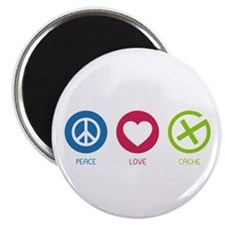 Geocaching PEACE LOVE CACHE Magnet