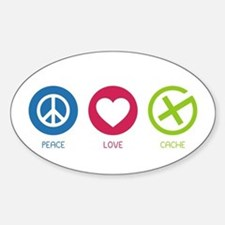 Geocaching PEACE LOVE CACHE Decal
