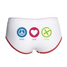 Geocaching PEACE LOVE CACHE Women's Boy Brief