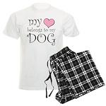 Heart Belongs to Dog Men's Light Pajamas