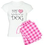 Heart Belongs to Dog Women's Light Pajamas