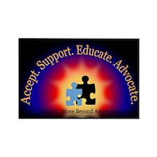 Beyond Awareness (Autism) Rectangle Magnet - Dark